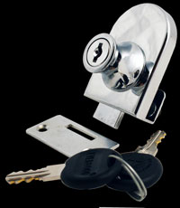 cabinet glass door lock